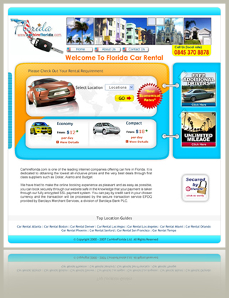 Site for a car rental company