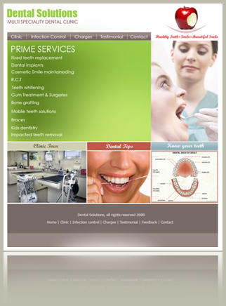 Site for a Dentist based in Lucknow