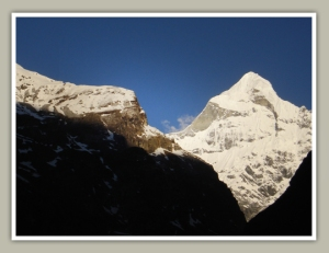 Peaks taken at the morning from Badrinath temple