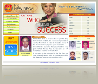 Site for a Coaching Institute