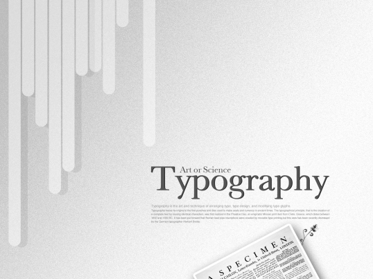 Typography wallpaper series